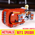 LEPIN 05001 Star Wars The Force Awaken Rey's Speeder Assembled Building Blocks  kid Toy compatible with 75099