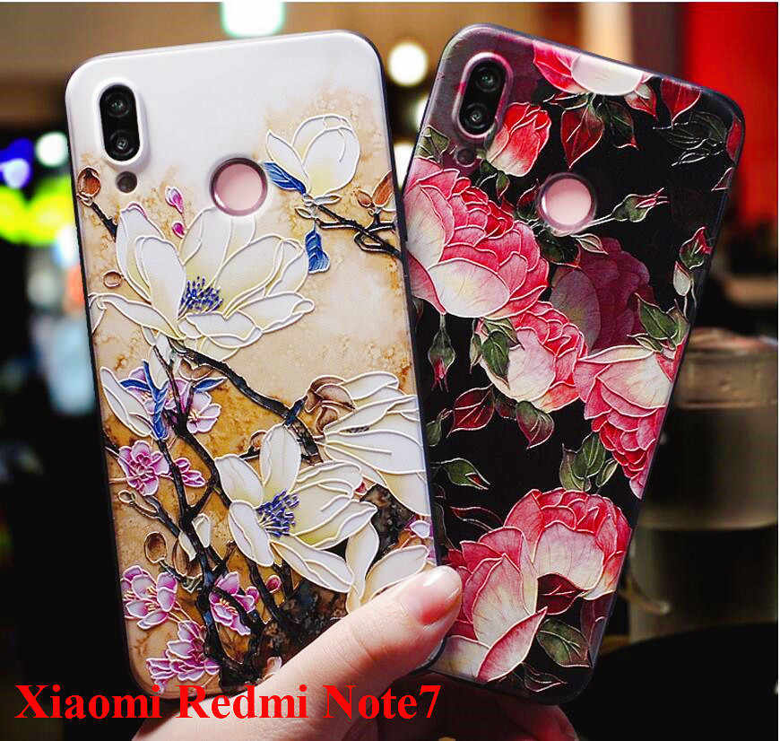 Xiaomi Redmi note 7 Case silicone 3d relief luxury soft tpu Painted serise phone case for xiaomi redmi note7 cover fundas coque