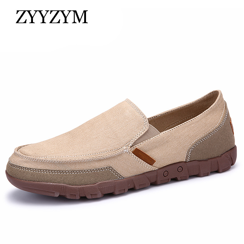 ZYYZYM Men Casual Shoes Canvas Loafers Big Size 38-48 Slip On Hot Sale New 2018 Joker Light Flat Shoes for Man hot sale new products for women s shoes flat sheet canvas shoes camouflage roses multicolor big yards 42