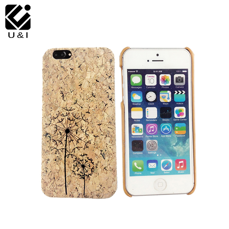 Luxury New Laser Engrave Natural Cork Wood Case Cover Cell Phone Capa Blank Wooden Coque For iPhone 6 6S 6PLUS 6SPLUS 7 7PLUS