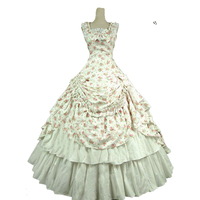 Sexy Summer Gothic Victorian historical Party Dress Sleeveless Retro European Court Rococo Baroque Ball Gowns Costume