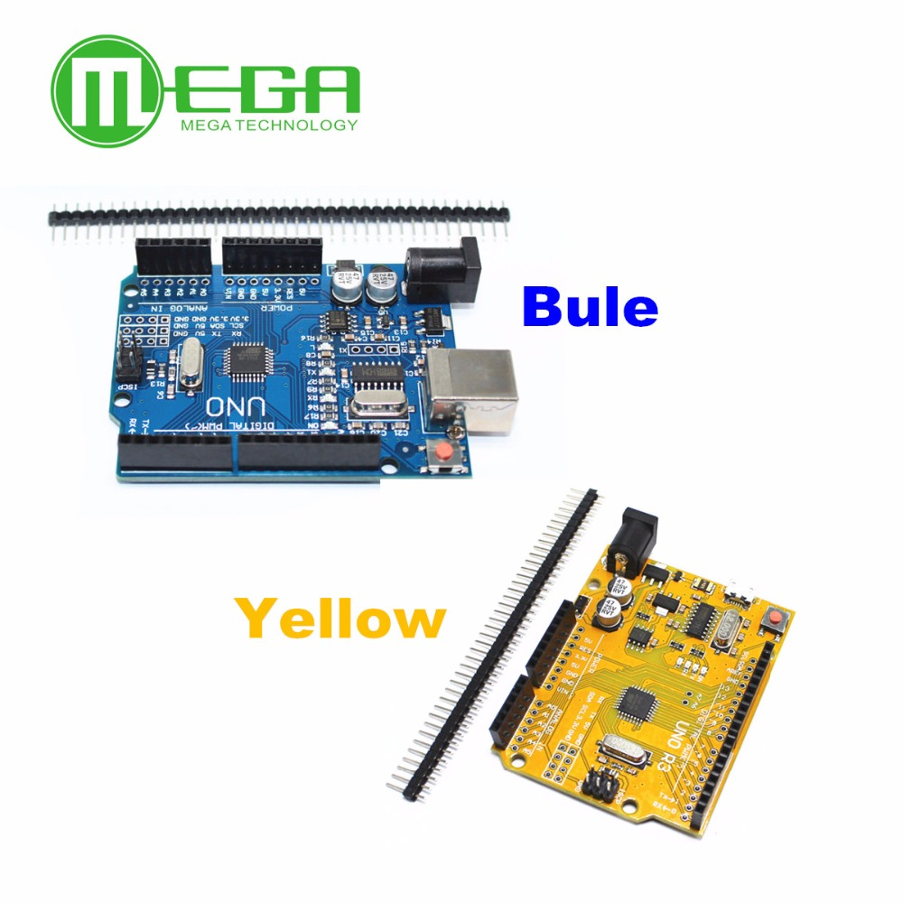 1set UNO R3 MEGA328P CH340G NO  USB cable  Blue or Yellow for your choice-in Integrated Circuits from Electronic Components & Supplies