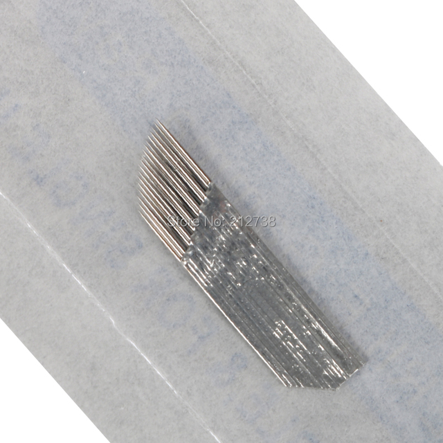 Newest  3 rows Line 18Pins Needle Permanent Eyebrow Makeup Needle Blades For 3D Microblading Pen Manual Embroidery-A0 3