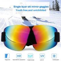 066 Windproof Sunglasses Ski Goggles Glasses Outdoor Sports Eyewear Bike Riding Skating Skiing Equipment Single Layers