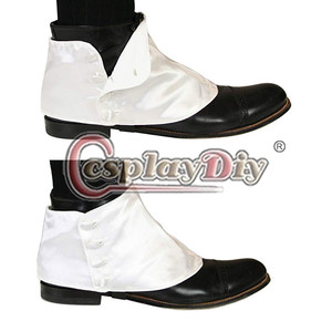 Image 5 - Cosplaydiy Medieval Historical Retro Mens Premium Satin Buttons Spats Victorian Shoes Covers Spats L320