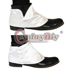 Image 5 - Cosplaydiy средневековая историческая Ретро Мужская Премиум атласная обувь на пуговицах в викторианском стиле лоты L320