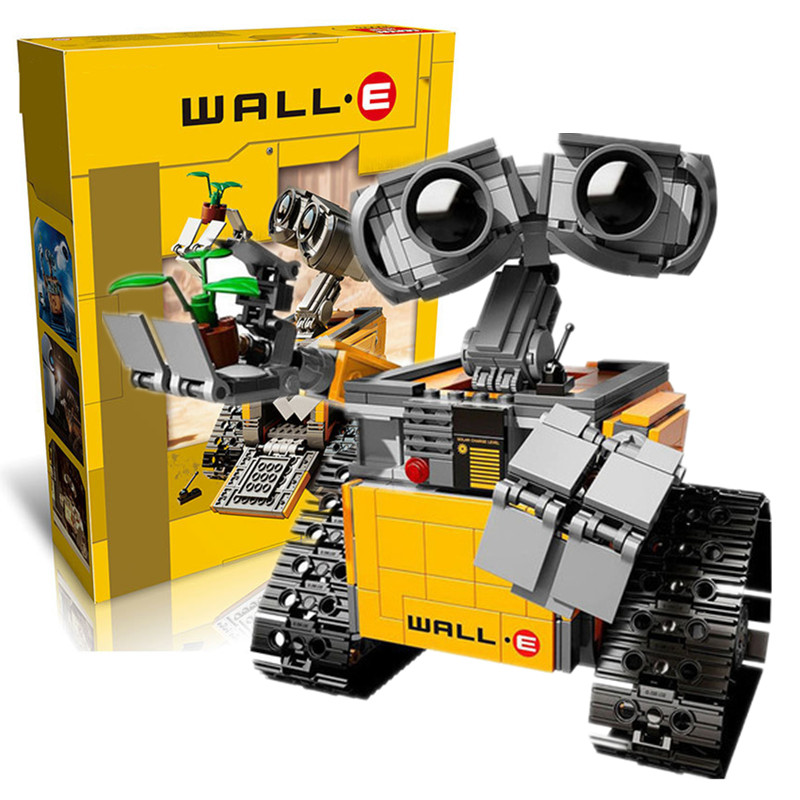 Building Blocks Model Compatible With <font><b>Legoings</b></font> Idea Wall E <font><b>21303</b></font> Figure Educational Toy For Children Gift For Boy Girl image