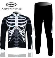 Free Shipping NW Northwave 2012 Long Sleeve Cycling Jersey Pants Kit Bicycle Riding Cycling Autumn Wear
