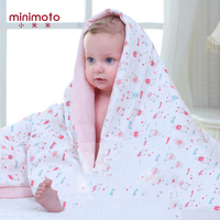 Minimoto Soft Baby Cotton Quilt Blankets Warm Newborn Stroller Sleep Cover Cartoon Infant Bedding Quilt Swaddling Wrap Coverlet