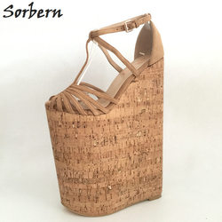 Sorbern Extreme High Heels Luxury Shoes Women Designers Summer Sandals For Women Wedges Platform Customized Large Size 33-46 2