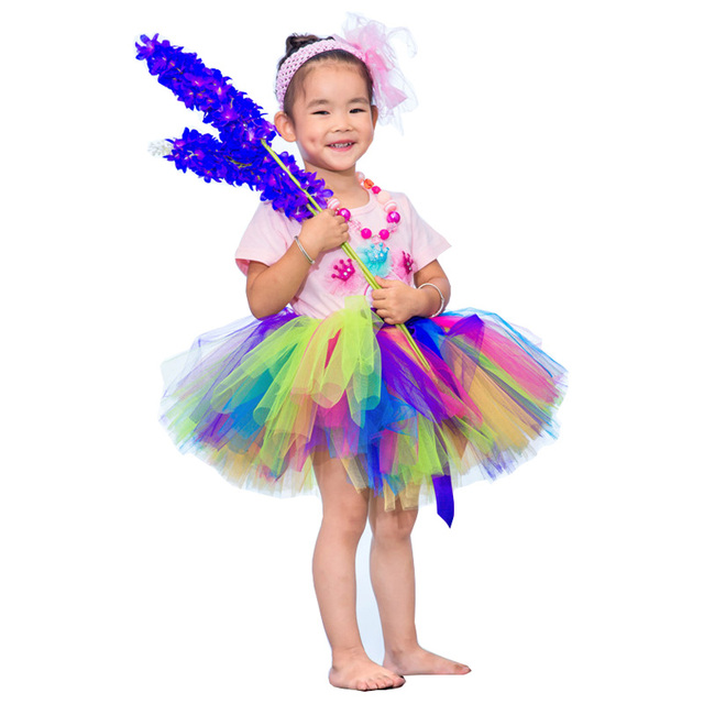 Girls Tutu Skirts For Kids Fluffy Hollowen Patchwork Princess Girls Skirt Children Birthday Party Tulle Skirt 4 Designs