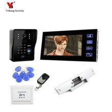 Yobang Security freeship 7 Inch TFT Color LCD Visual Video Intercom Door Bell Video Door Phone with ID card unlock function