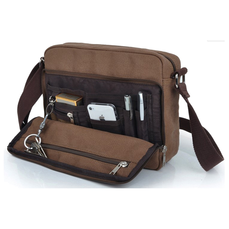 Men's Casual Canvas Bag Men Messenger Bag Man Business Corssbody Bag For Men Shoulder Small Sling School Bag Mens Bolsos