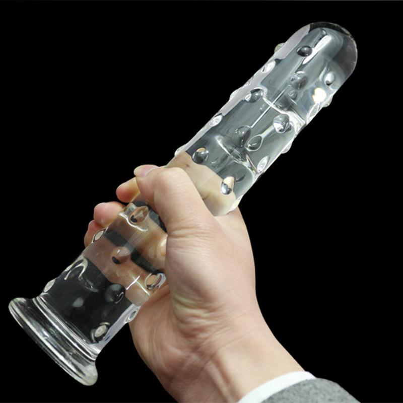 Huge Large Big Crystal Glass Dildo Fake Penis Cock Anal Beads Butt Plug Female Masturbation Gay Sex Toys for Women huge glass dildos realistic penis big anal butt plug anus beads stimulator in adult game erotic sex toys for women and men gay