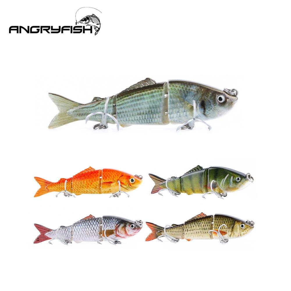 Angryfish 1 stücke Angeln Köder 80mm 7,9g 3 Segmente Lebensechte Stacheldraht Locken Künstliche Köder Haken HF-007
