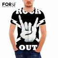 Forudesigns verão camisa dos homens t de heavy metal do rock t-shirt homem negro t-shirt da marca de moda hip hop t-shirt de algodão 3D punk toop tees