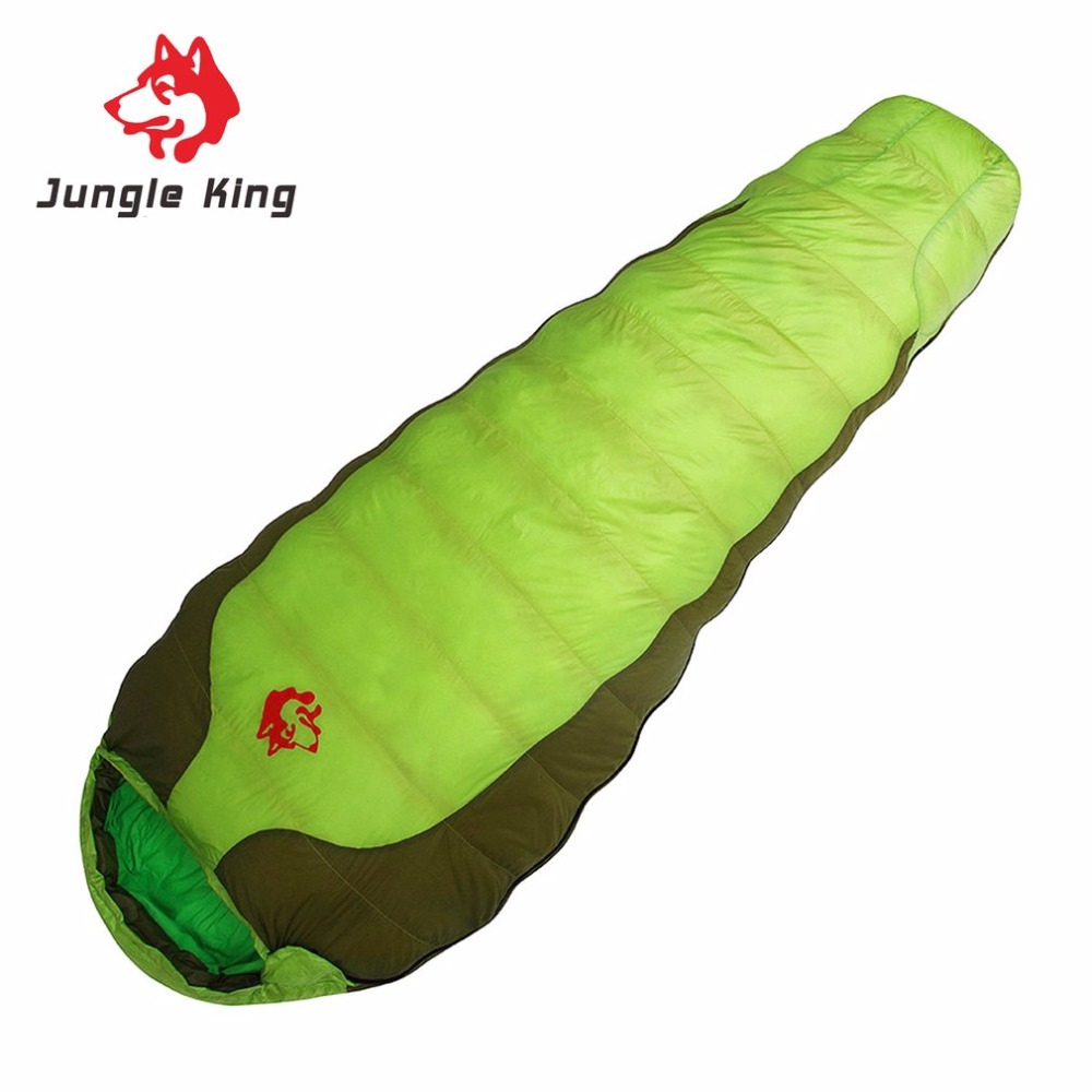 Jungle King CY-770 Portable Duck Down Nylon Sleeping Bag Comfortable Outdoor Camping Travel Envelope Sleeping Bag шляпа huf duck jungle camo olive