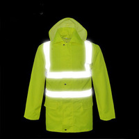 High visibility waterproof rain Jacket safety reflective rain jacket rain coat men