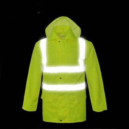 High visibility waterproof rain Jacket safety reflective rain jacket rain coat men rain