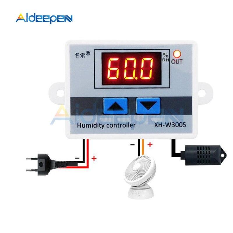 Werkzeuge Temperatur Instrumente Angemessen Xh-w3005 W3005 10a Ac 110 V-220 V Digitale Feuchte Controller Hygrometer Feuchtigkeit Control Schalter 0 ~ 99% Rh Feuchtigkeit Sensor 1500 W
