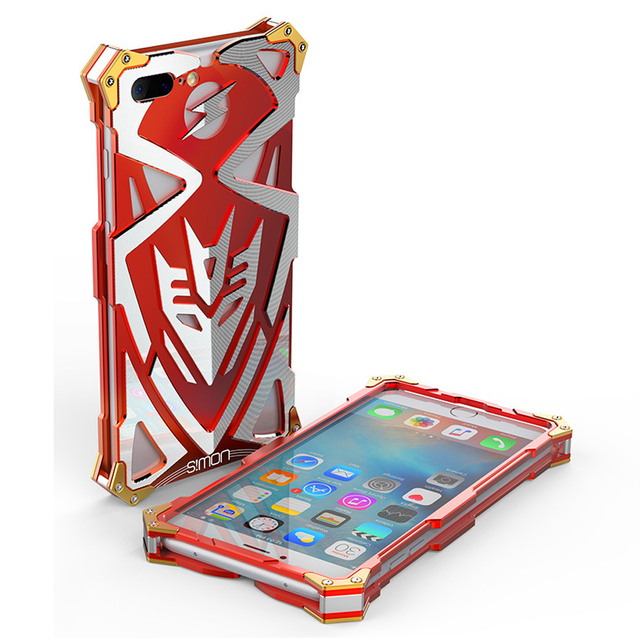 new style 8e90b dae76 US $15.22  Simon Thor For iphone 6 6S 7 Plus Luxury Case Cover IRON MAN  Metal Aluminum Tough Armor Phone Coque Fundas For iPhone 6 7 Cases-in  Fitted ...