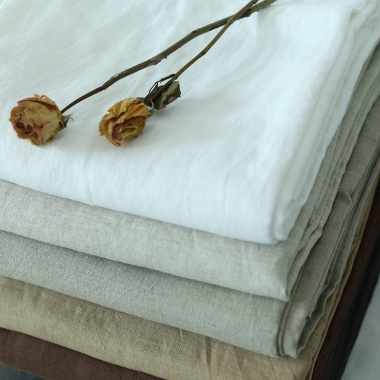 Super width 280 cm 100% Linen Fabric for bedding sheets 110 inches wide white blue grey colors 1 meters for sample testing