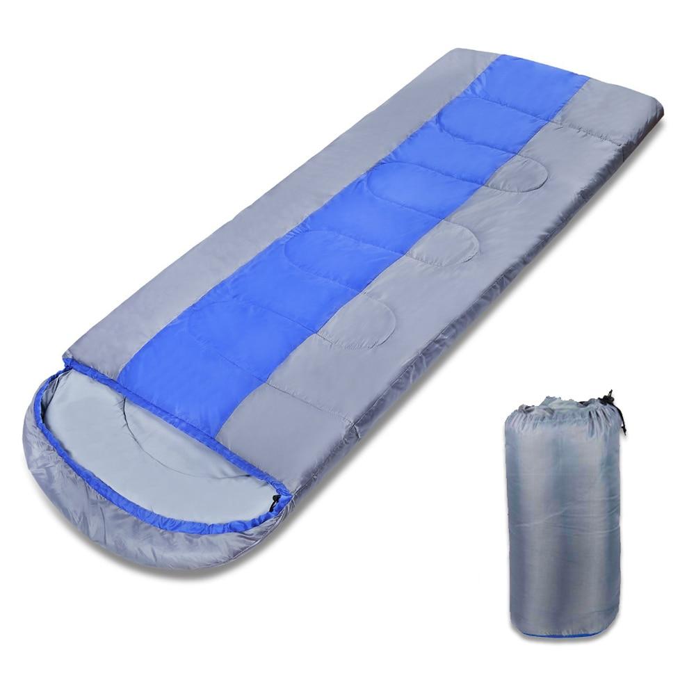 Outdoor Camping Adult Sleeping Bag Waterproof Keep Warm 3-4 Seasons Spring Summer Sleeping Bag For Camping Travel 190+25 *75cm