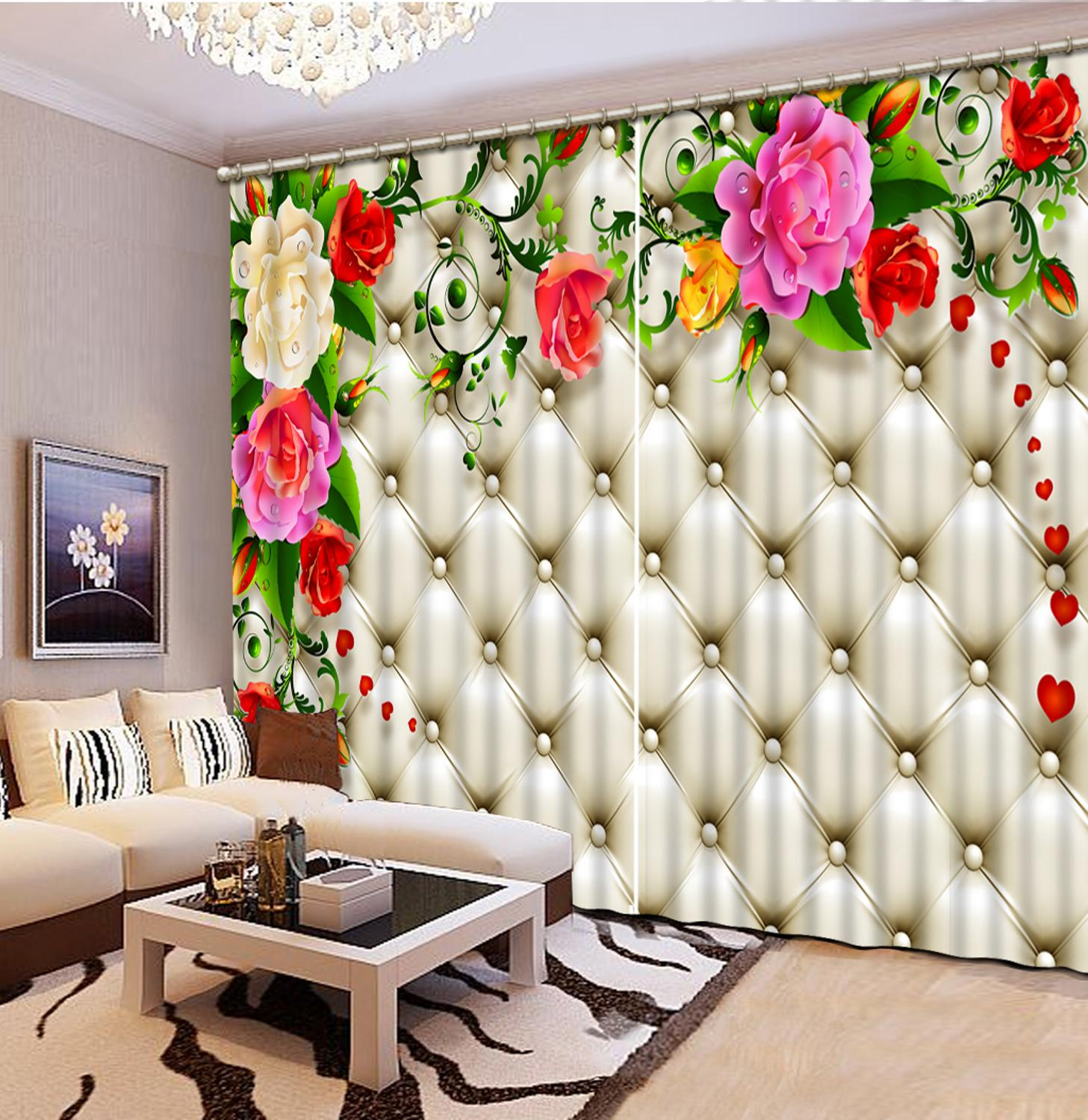 3D Curtain Luxury Blackout Window Curtain Living Room soft rose curtains for wedding room wedding curtains3D Curtain Luxury Blackout Window Curtain Living Room soft rose curtains for wedding room wedding curtains