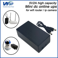Vendita calda ip camera uso 5 v homeage ups batteria al litio di backup alimentazione dc on-line mini ups 5 v 2a per modem wifi router