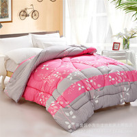 Home Hotel Textile Size 150 200cm Bamboo Fiber Cotton Quilt With Pattern 1 25kg Comforter Blanket