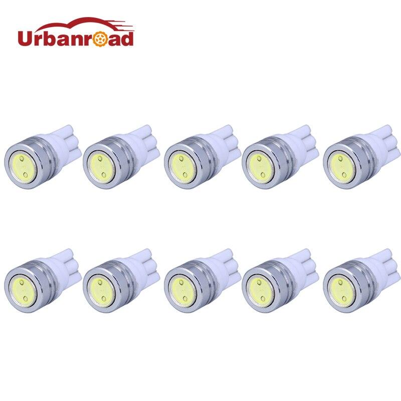 Urbanroad 10pcs/lot T10 W5W LED Bulbs 194 168 COB Xenon White Parking  Interior Side Dashboard License Light Lamp Car Styling