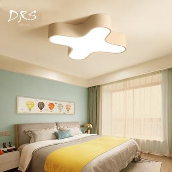 新しいledシーリングランプで鉄ボディミルクカラー照明器具用子供寝室リビングルームキッチンシーリングライト