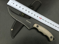 Hot Outdoor Camping High Hardness 56 RHC Civilian Fixed Blade Hunting Knife Diving Tool Free Shipping