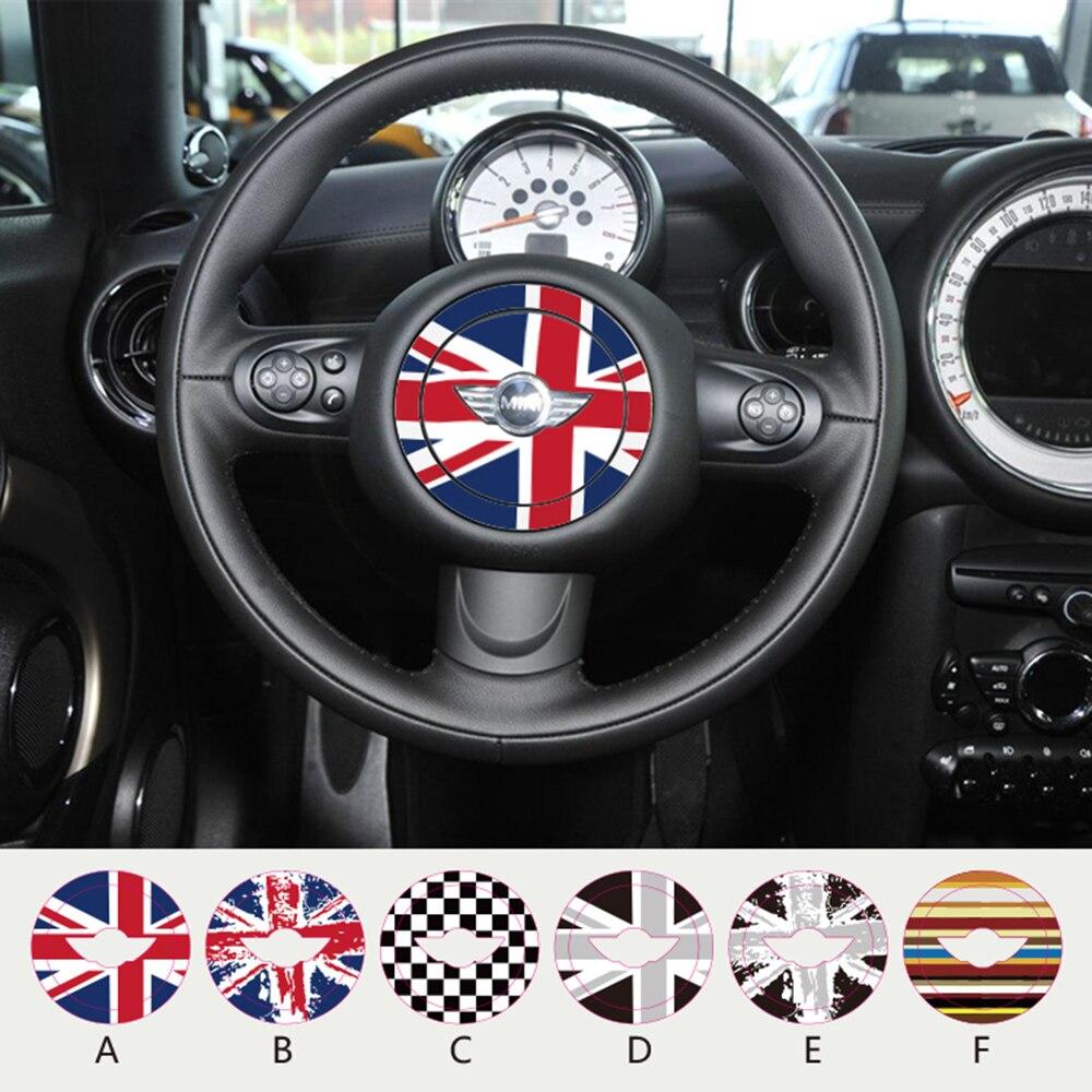 Aliauto Steering Wheel Center Dedicated Car Sticker And Decal For MINI COOPER Countryman R50 R52 R53 R55 R56 R57 R58 R59