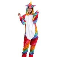 Flannel Adult Animal Pijama Unicorn Pajamas For Women Unisex Homewear Totoro Pikachu Soft Comfortable Sleepwear Hooded