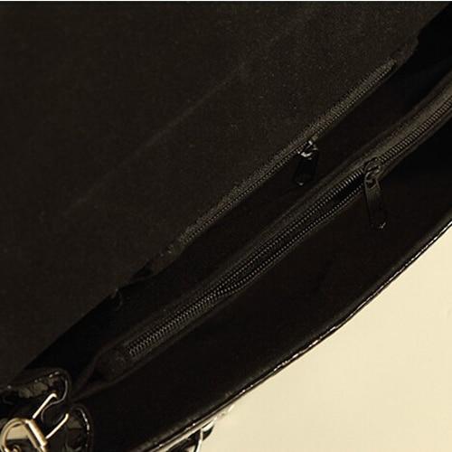 ASDS Fashion Designer Crocodile Pattern Ladies' Shoulder Chain Bag Wallet PU Leather Clutch Evening Bag Purse for Women Handbag