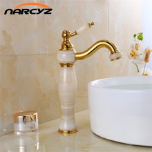 Free shipping Luxury New Natural Marble Decoration Bathroom Lavatory Basin Vessel Sink Mixer Tap XT-1003(China)