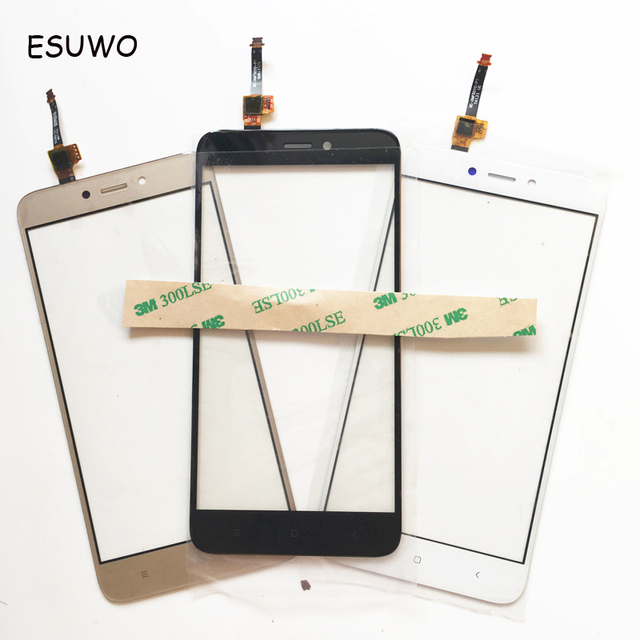 ESUWO Outer Glass Lens For Xiaomi Redmi 4X Touch Digitizer For Redmi 4X Touch Screen Front Glass 3 Color