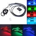 RGB LED Auto Car Chasis Atmósfera de Coches Luz de Los Bajos Resplandor Interior LED Remoto/Música/Voz Control de Colores Decorativos luz