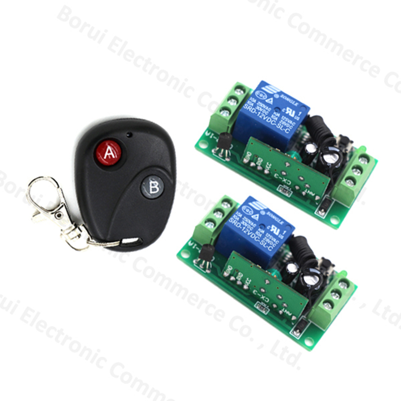 Free shipping 12V 1ch wireless remote control switch system transmitter &  receiver relay smart house free shipping 12v 1ch wireless remote control switch transmitter