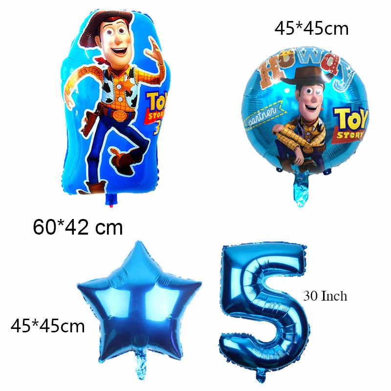 Nova Chegada Brinquedo Balões Buzz Lightyear 30 Polegada Número Ballon Decoração Folha De Balão De Hélio Festa de Aniversário Crianças Brinquedos