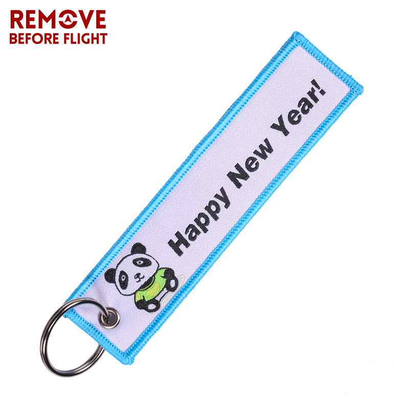 REMOVE BEFORE FLIGHT Christmas Gift Keychain Lovely Panda Key Chain Motorcycles And Cars Woven Key Fobs Jewelry For Biker Lovers