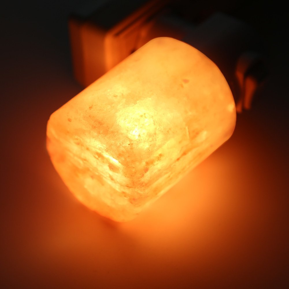 Mini Hand Carved Natural Crystal Himalayan Salt Lamp night light (cylinder-shaped)