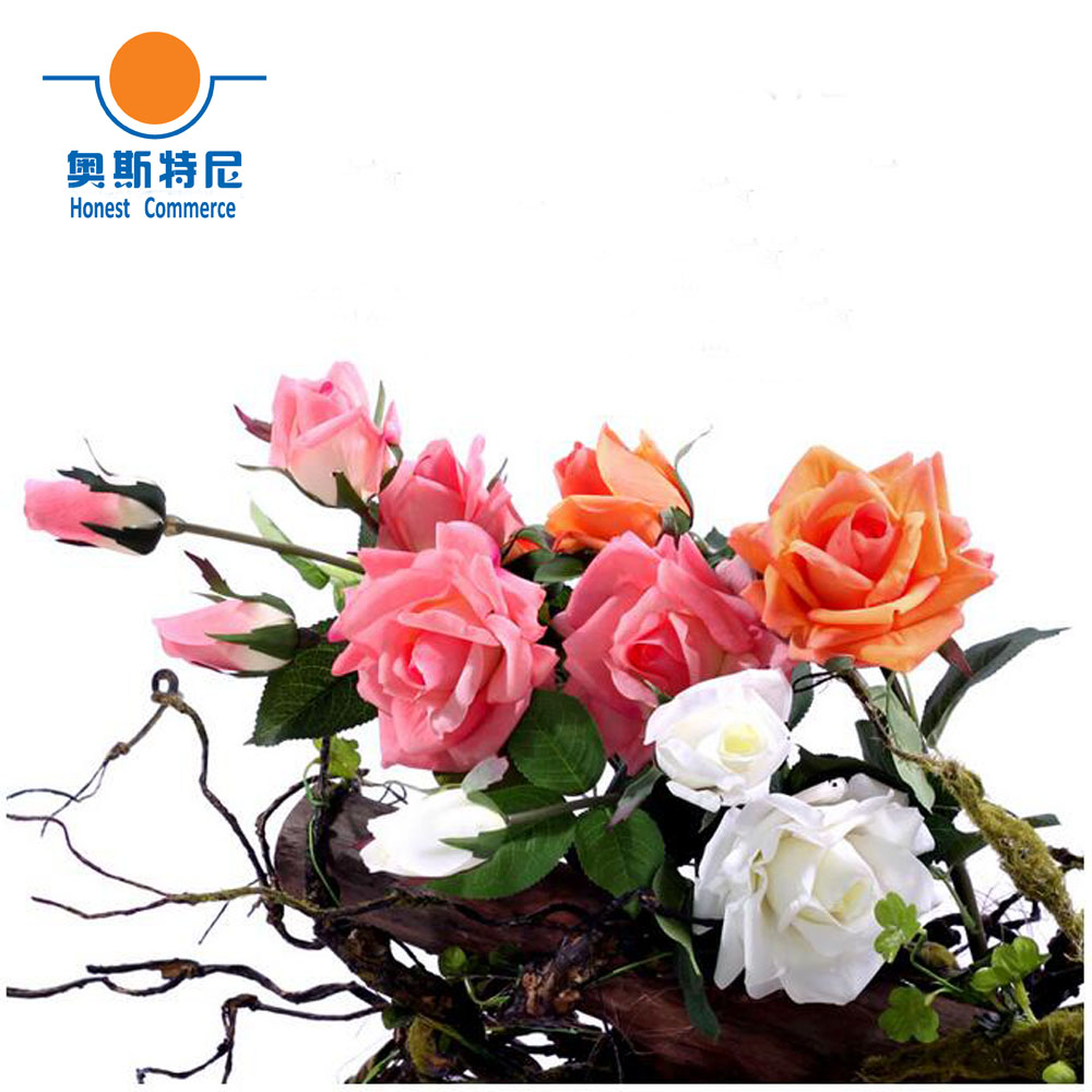 1 Branch Have 3 Flowers Artificial Flower Bouquets Real Touch