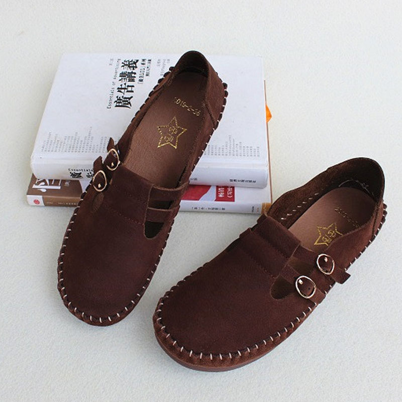 Shoes Woman Flat 100 Genuine Leather Ladies Loafers Soft Sole Comfy Female Footwear 2019 Spring Women