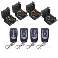 220V 1CH Wireless Mini Switch System 4 Receiver 4Transmitter Remote Controller 10A Output State Is Adjusted