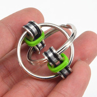 Key Ring Hand Spinner Tri-Spinner Reduce Stress EDC Fidget Toy For Autism ADHD