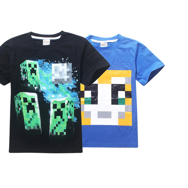 Cotton Minecraft Cartoon Roblox Children S Clothing Casual Our World