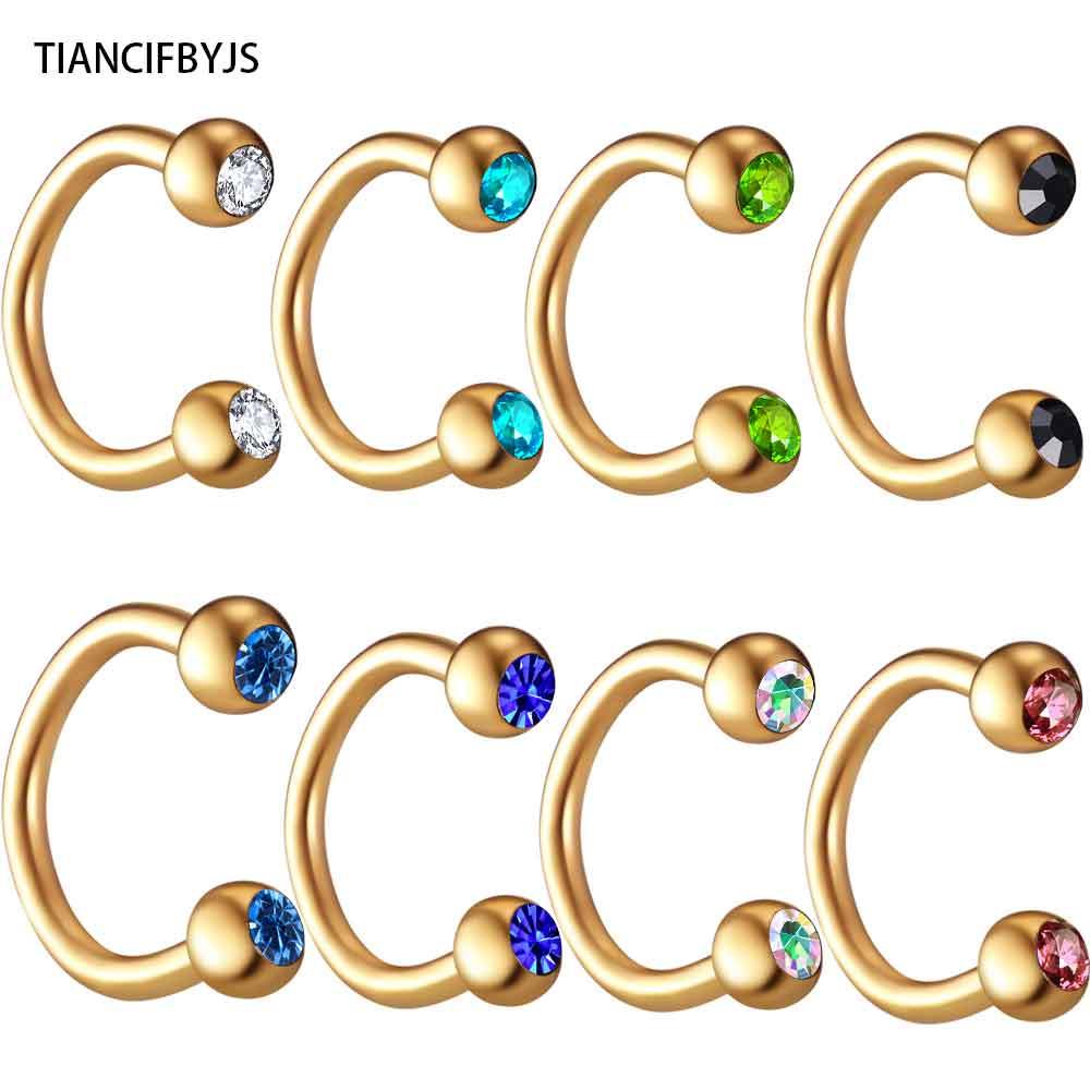 Verantwortlich Ticncifbyjs 100 Stücke 10 Farbe Gold Schwarz Regenbogen Silber Rund Horseshoe Nasenring Ring Bcr Piercing Ohrring Body Schmuck Schuhe