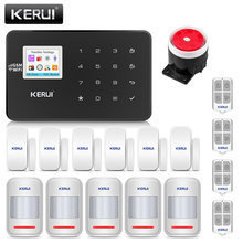 KERUI W18 Wireless WiFi GSM Home Security Alarm System Burglar Alarm Kit Android ios APP Control With Remote Controller(China)